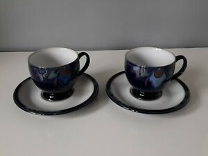 2 x Denby Baroque Cups and Saucers