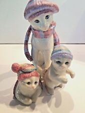Lenox Bundled Up Kitties Cat 3pc Figurine Set NEW IN BOX