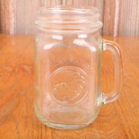 Golden Harvest Drinking Jar Glass Mug Cornucopia