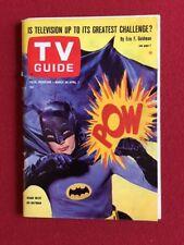"1966, Batman (Adam West), ""TV GUIDE"" (No Label) Scarce"
