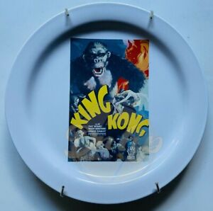 KING KONG TCM 1933 Poster Plate With Wall Hanger Pottery Barn 2000s