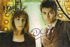 CATHERINE TATE DAVID TENNANT DR WHO DONNA SIGNED AUTOGRAPH 6 x 4 PRE PRINT PHOTO