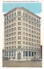 A51/ Sarasota Florida Fl Postcard c1915 New American National Bank Building