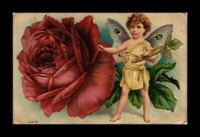 DR JIM STAMPS US FLOWER CHILD EMBOSSED TOPICAL GREETINGS POSTCARD