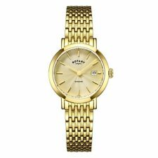 Women's Gold Plated Strap Silver Case Wristwatches