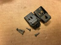 2 Fisher MT-6225 HINGES w/ Hardware - Vintage Turntable Parts