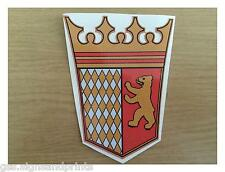95X75MM QTY X2 TABBERT CREST - PRINTED STICKER - CARVAN MOTORHOME