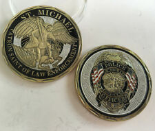ST MICHAEL PATRON SAINT OF LAW ENFORCEMENT Coin POLICE OFFICER Collectibles Coin