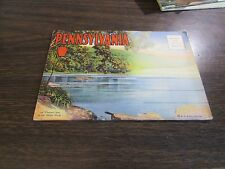 SOUVENIR FOLDER OF PENNSYLVANIA  -  18 PANELS