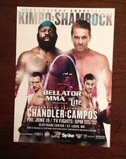 "Kimbo Slice Vs Ken Shamrock Bellator 138 Small Poster St Louis Mo MMA 5"" X 7"""