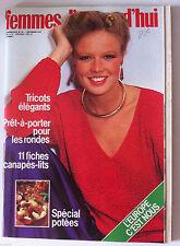 """Magazine Femmes d'Aujourd'hui 7/11/1978; Tricots élégants/ Prêt à porter """"rondes"""