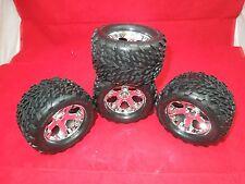 4 Traxxas XL-5 Stampede wheels Talon tires GRAVE DIGGER  CAPTAINS CURSE  SON-UVA