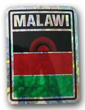 Wholesale Lot 6 Malawi Country Flag Reflective Decal Bumper Sticker