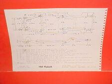 1969 PLYMOUTH BELVEDERE SATELLITE GTX ROAD RUNNER FURY FRAME DIMENSION CHART