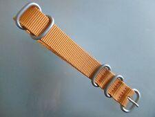 Zulu Strap Nylon Orologi Bracciale arancione ANELLI TONDO 18 mm NATO nastro in acciaio INOX opaco