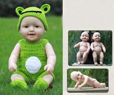 "Lifelike 20"" Silicone Vinyl Reborn Newborn Boy Doll Baby Jack Toy Green Knitting"
