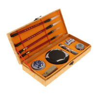 Traditional Calligraphy Writing Tool Set Various Sized Brushes Ink Seal Set