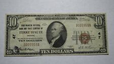 $10 1929 Terre Haute Indiana IN National Currency Bank Note Bill! Ch. #47 RARE