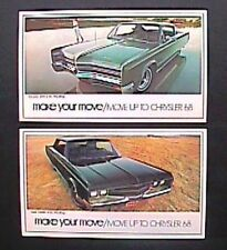 NOS 1968 Chrysler 300 New Yorker Postcards and Sales Brochure Mopar C-body
