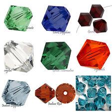 60 pcs 5MM Swarovski Crystal Xilion Bicone Beads #5301, #5328, pick color
