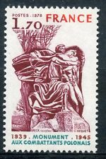 STAMP / TIMBRE FRANCE N° 2021 ** MONUMENT COMBATTANTS POLONAIS