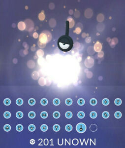 Pokemon GO - Unown from A to Z and ! / registered or unregistered