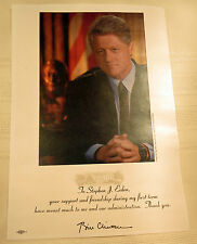President Bill Clinton Donar Appreciation Letter from 1990's