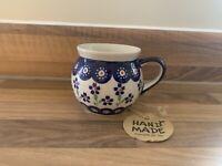 Mug 0.22L Handmade Polish pottery Boleslawiec