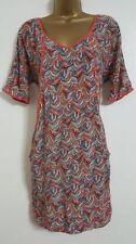 Birds Viscose V-Neck Dresses for Women