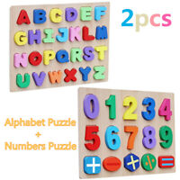 Timy Wooden Alphabet Puzzle Board with Kids Numbers Wooden Learning Puzzle Board