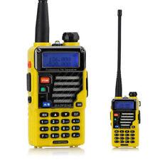 Baofeng UV-5R+ Plus Qualette Yellow 2m/70cm VHF UHF MHz FM Ham Two-way Radio US
