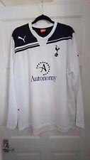 Tottenham Hotspur Spurs Bianco 2010/2011 LS Maglietta Jersey-Taglia Extra-Large