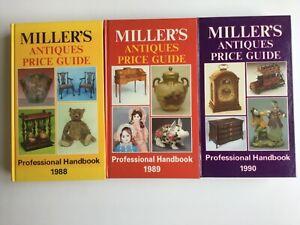 Miller Antique Price Guide Hardback Book 1988/1989/1990 & 1992-93 Collectables