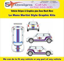 MINI Cooper S R56 2006-14 Le Mans Martini Race Rally Logo Graphics Kit 6