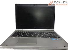 "*AS-IS* HP Elitebook 8560P 15.6"" i5-2450M 2.5GHz 4GB No HDD BIOS Lock Laptop"