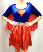 Women's fancy dress superwoman costume supergirl outfit  8-10 12-14 16-18 20-22