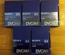 SONY DVCAM PDV-64N 64 Digital Video Cassette Tapes Lot of 5