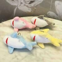 Soft Shark Keychain Plush Key Chain Stuffed Mini Ocean Tiny Animal V2Y4