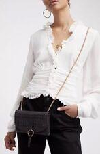 NEW Free People Rosemount Wallet Crossbody Bag Black