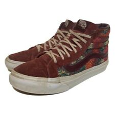 Vans Womens Sk8 Skate Sneakers Burgundy Grandmas Couch Lace Up Shoes 5.5