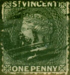 St Vincent 1871 1d Black SG15 Good Used