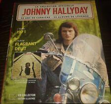 JOHNNY HALLYDAY LIVRE + CD FLAGRANT DELIT DE LA COLLECTION OFFICIELLE