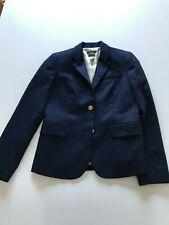 J Crew Womens Sz 4 Navy Blue Schoolboy Blazer Wool Blend