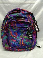 "TRANS BY JANSPORT 17"" SUPERMAX  LAPTOP BACKPACK RAINBOW ACID SWIRL"