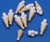 LEGO - 10 x Eis - Waffel mit Eis mit 4 Kugeln weiss / 11610 6254 NEUWARE