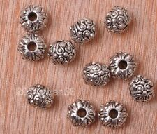 10pcs Tibetan silver charm bead spacer loose beads Jewelry making 10x8mm B3181