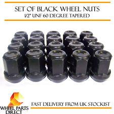 Tuercas para Llantas De Aleación Negro 20 1.3cm UNF Afilado Jeep Cherokee 80-08