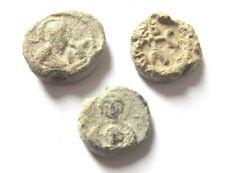 A lot of 3 x byzantine lead-seals 6.-7. century Ad.