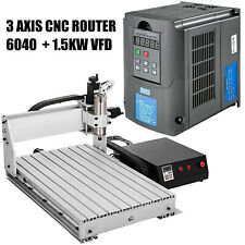Vevor 3 Axis Cnc 6040engraving Machine Amp15kw 110v Variable Frequency Drive Vfd