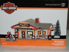 Department 56 4056179 Harley Davidson Service Station Box Set of 3 Pcs Nib